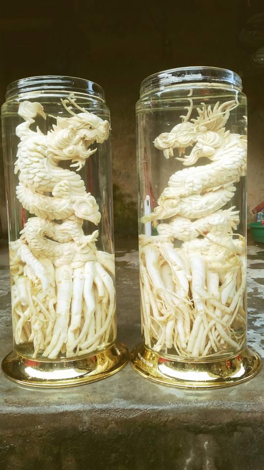 Đinh lăng điêu khắc 12 con giáp