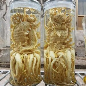 Bình rượu Đinh lăng điêu khắc Đắk Lắk