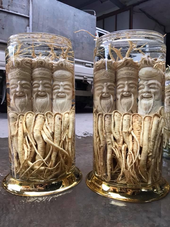 Bình rượu Đinh Lăng điêu khắc Sài Gòn