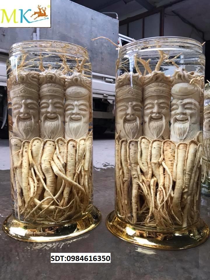 Bình rượu Đinh lăng điêu khắc An Giang